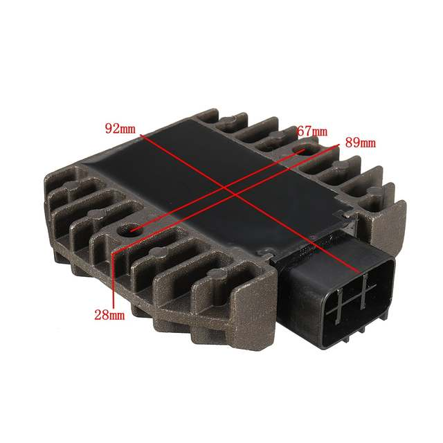 US $15 42 8% OFF|Motorcycle Voltage Regulator Rectifier For Yamaha GRIZZLY  660 YFM350 RHINO 450 660 YFM350 BT1100 6 Pins-in Motorbike Ingition from
