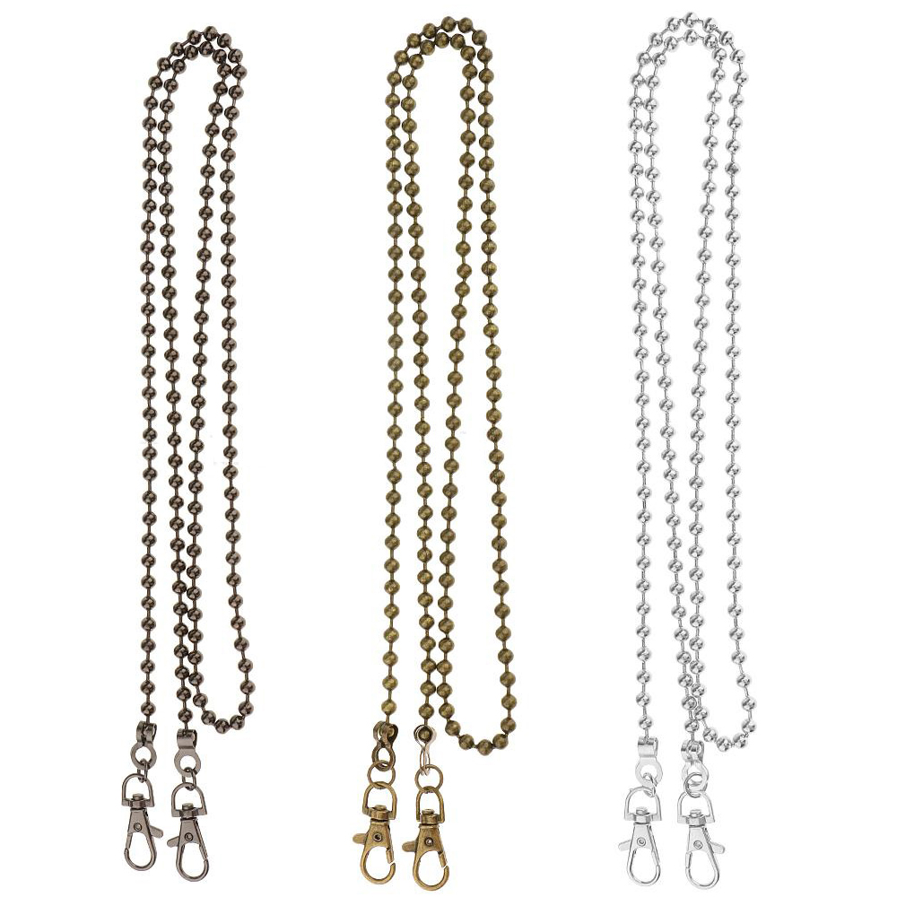120cm Gold Chain Straps For Bags Shoulder Handbag Bead Chains DIY Belt Hardware For Handbags Strap Replacement Bag Accessories