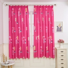 Half Blackout Printed Stripe Curtains For Kids Bedroom Living Room colorful Window Curtain Panels 5 styles
