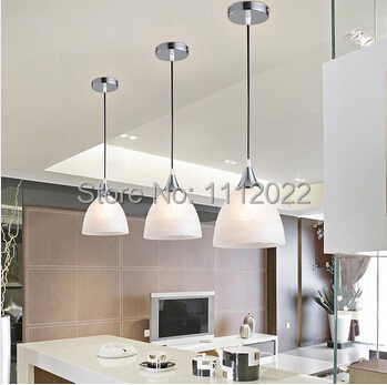 moderne blanc panach verre ombre e27 unique led pendentif luminaire pour salle manger bar. Black Bedroom Furniture Sets. Home Design Ideas