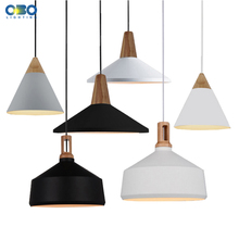 Modern Painted Aluminum Shade Pendant Lamp Coffee House Dining Hall Pendant Lights Cord 1-1.5m Wire E27 110*240V Free Shipping modern aluminum simple style pendant lamp indoor dining room foyer home adornment pendant light 110 240v free shipping