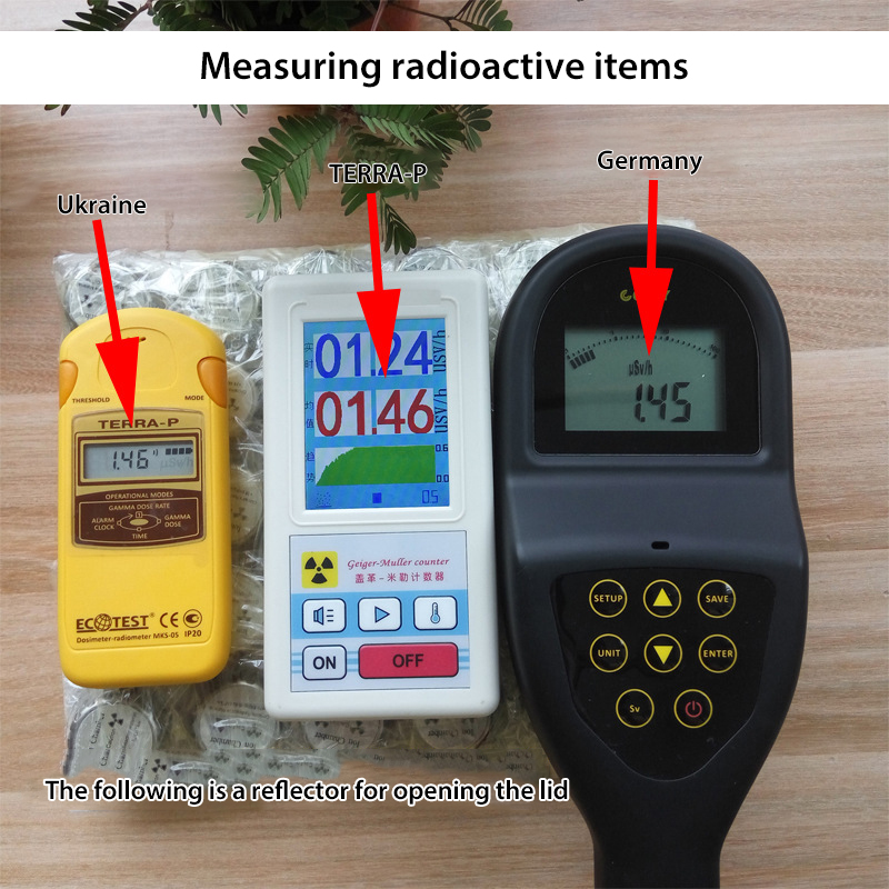 LCD Radioactive Detector Geiger Counter Nuclear Radiation Detector Beta Gamma X-ray tube Personal Dosimeter Marble Tester ToolLCD Radioactive Detector Geiger Counter Nuclear Radiation Detector Beta Gamma X-ray tube Personal Dosimeter Marble Tester Tool