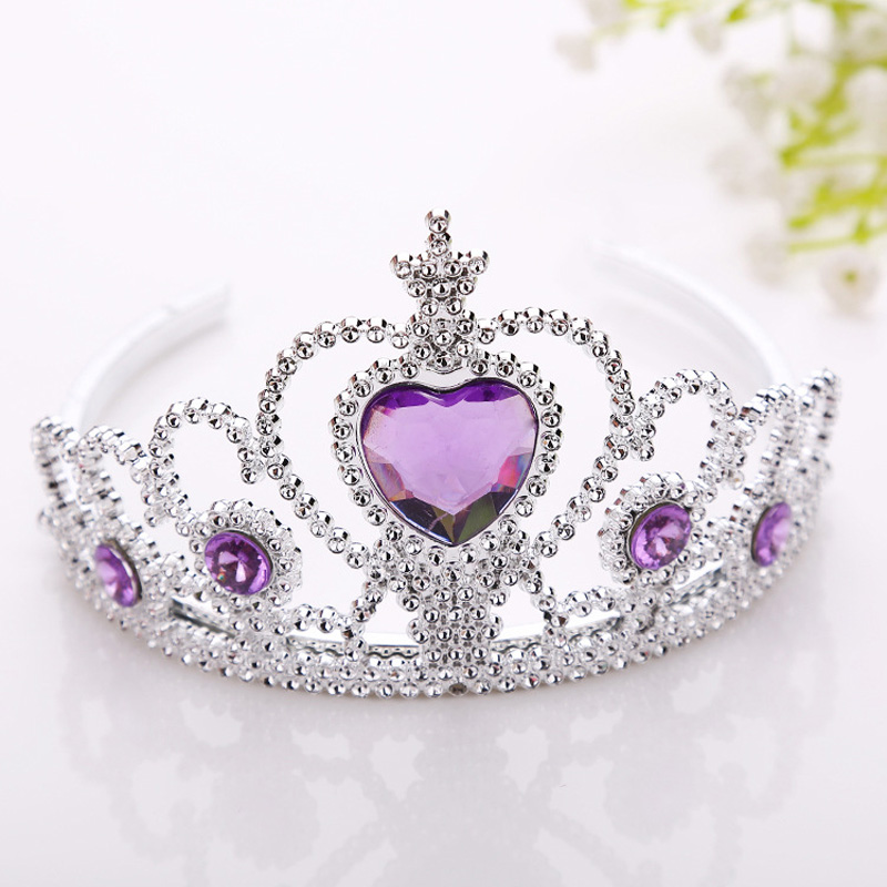 New Frozen Crown Twinkle Hair Accessories For Girls Princess Bridal Crown Crystal Diamond Tiara Hoop Headband Hair Bands 1 pcs lot new silver crystal rhinestone hairbands for women bridal wedding hair accessories tiara headbands crown hairwear