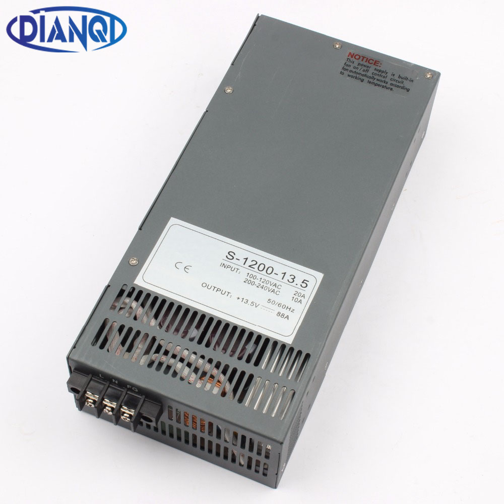 1200W 13.5V 88A Switching power supply for LED Strip light AC to DC power suply input 110v 220v 1200w ac to dc power supply1200W 13.5V 88A Switching power supply for LED Strip light AC to DC power suply input 110v 220v 1200w ac to dc power supply