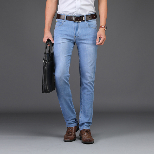 US $6 62 49% OFF 2019 SULEE Brand Men Spring summer style Utr Thin Denim  Cotton Causal Pants Business jeans 28 40 Best Price -in Jeans from Men's