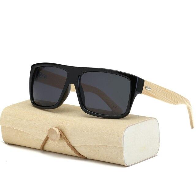 Original UV400 Espelhado óculos de Sol Das Mulheres Dos Homens Óculos de Sol  De Madeira De 67b5ef5d18