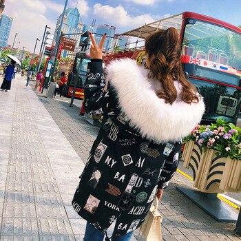 FREE SHIPPING*2018  Down Fabric Coat Fox Fur Gilet Inside, Big Raccoon Fur Trimming, Real Fur Jacket  BE-1735 1