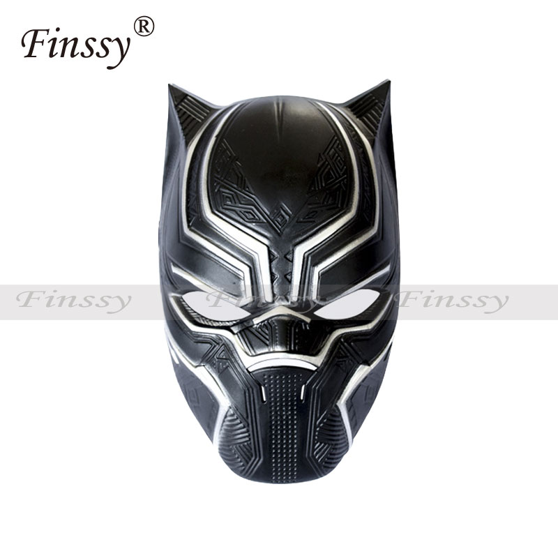 New Movie Hero Savior Black Panther Mask Cosplay Costume Halloween Party Masquerade Decoration Props стоимость