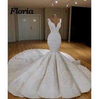 Элегантные пикантные V турецкая исламская Свадебные платья 2018 новый кружева Свадебное платье арабский Gelinlik кафтан Свадебные платья Vestido de