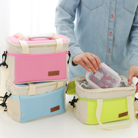 Large Thicken Folding Fresh Keeping Waterproof Canvas Cooler Bag Lunch Bag For Steak Insulation Thermal Bag