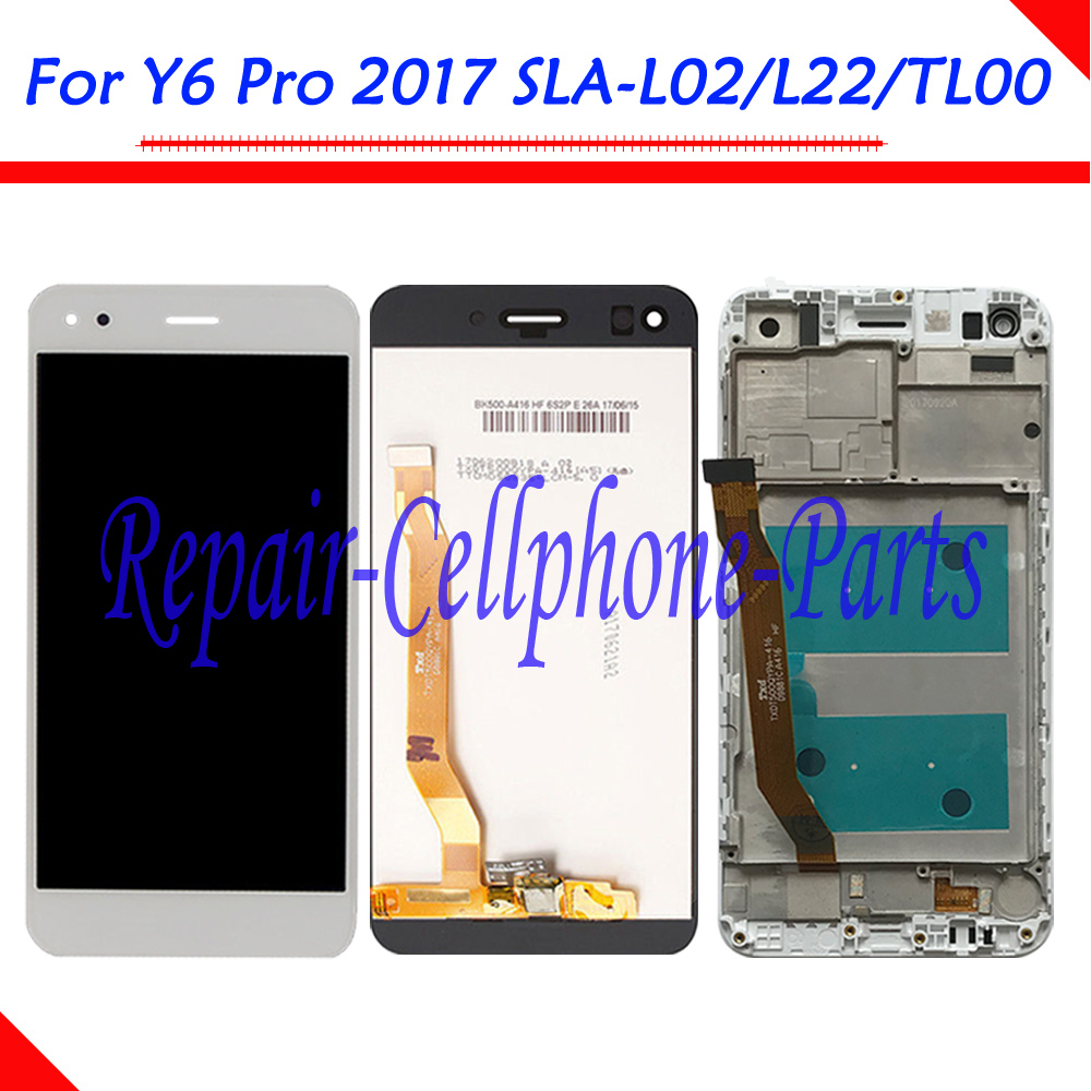 5.0 pollici DIsplay LCD Full + Touch Screen Digitizer Assembly + Telaio di Copertura Per Huawei Y6 Pro 2017 SLA-L02 SLA-L22 SLA-TL005.0 pollici DIsplay LCD Full + Touch Screen Digitizer Assembly + Telaio di Copertura Per Huawei Y6 Pro 2017 SLA-L02 SLA-L22 SLA-TL00