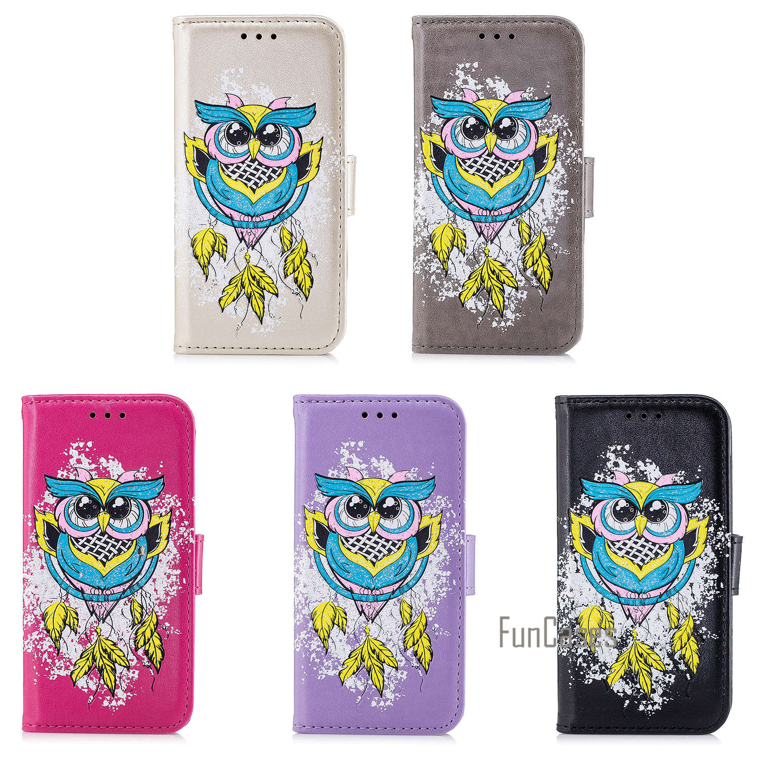For Xiaomi Redmi 4X Case Colourful Painting Style Owl Bird PU Phone Case For Xiaomi Redmi 4X Full protection telephone cover
