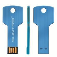 Suntrsi flash drive 64gb USB 2.0 Pen Drive 32gb 16gb 8gb 4gb waterproof Metal Key Memory Stick