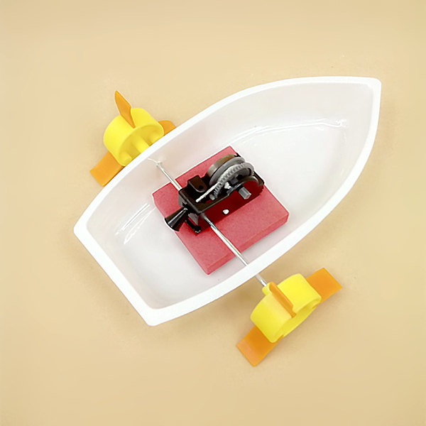 2pcs <font><b>physical</b></font> science experiment handmade Gear driving <font><b>force</b></font> Boat learning Dynamics / Buoyancy of water / Action <font><b>and</b></font> reaction