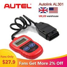 Autel オートリンク AL301 OBDII & Can コードリーダー自動リンク Al 301 自動診断スキャナー obd2 スキャナ車両アップデート無料