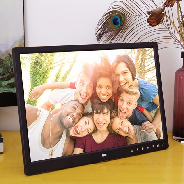 15 Inch Digital Photo Frame with Multimedia Playback Contemporary ...