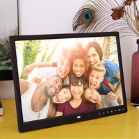 15 Inch Digital Photo Frame with Multimedia Playback Contemporary Design With Touch Button Photo Album Home Decor F921