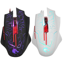 Professional 6 keys Colorful LED Backlight 5500 DPI Optical Wired Gaming Mouse Gamer Mice for PC Computer Laptop souris sans