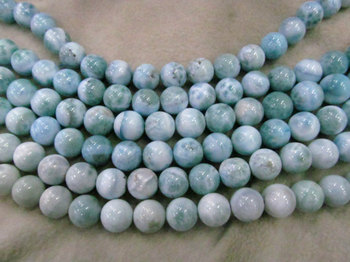 wholesale Natural Larimar Stone , Larimar Bead Smooth Bead, Natural Stone, Semi Precious Bead, Blue Bead Larimar Necklace 6-12mm