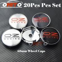 Good quality 20pcs/lot Car Wheel Hub Emblem Cover Auto Wheel Center Logo Cap O.Z car emblem badge cover