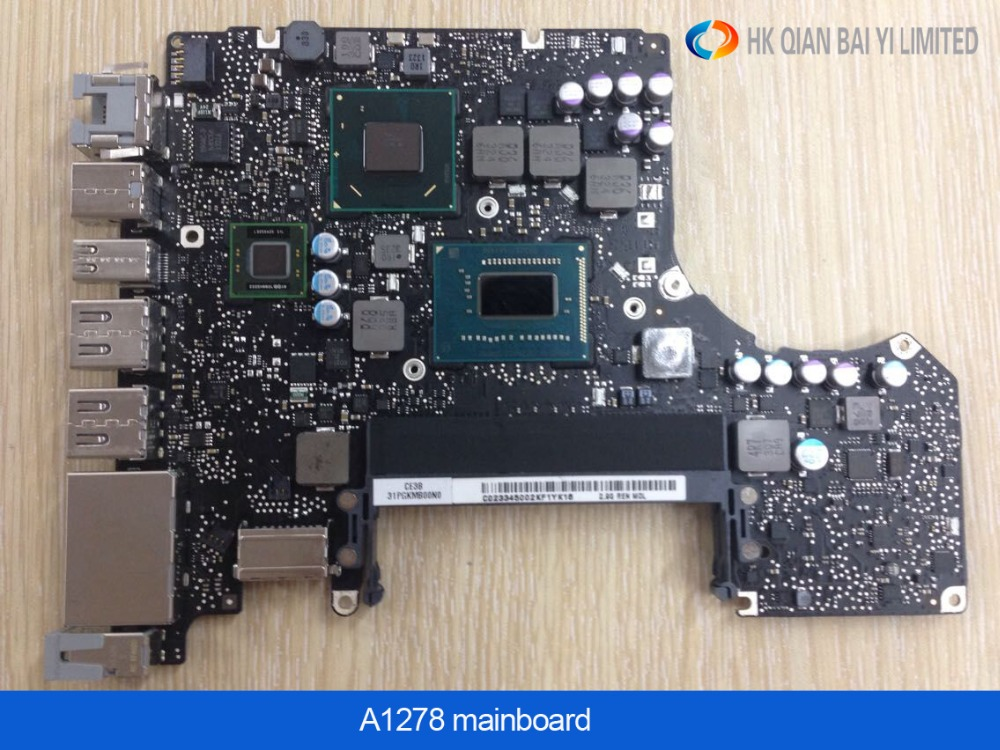 New Motherboard for Macbook Pro 13 Laptop A1278 Logic Board i7 2.7GHz 4GB Motherboard I7 2620 M early 2011 MD101 MD102