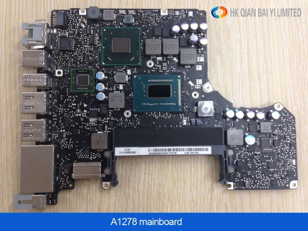 Nueva placa base para Macbook Pro 13 portátil A1278 placa lógica i7 2,7 GHz 4 GB placa base I7 2620-M temprano 2011 MD101 MD102