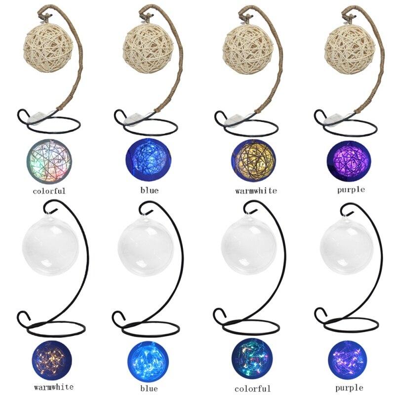 Retro Style LED Copper String Lights Twine Copper Round Ball Cell Battery Purple Festival Lighting Lovely String lamp