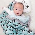 Baby Wrap Katoenen deken Multifunctionele 2 laag Mousseline Baby Pasgeborenen Deken Baby Inbakeren Deken 120*120cm