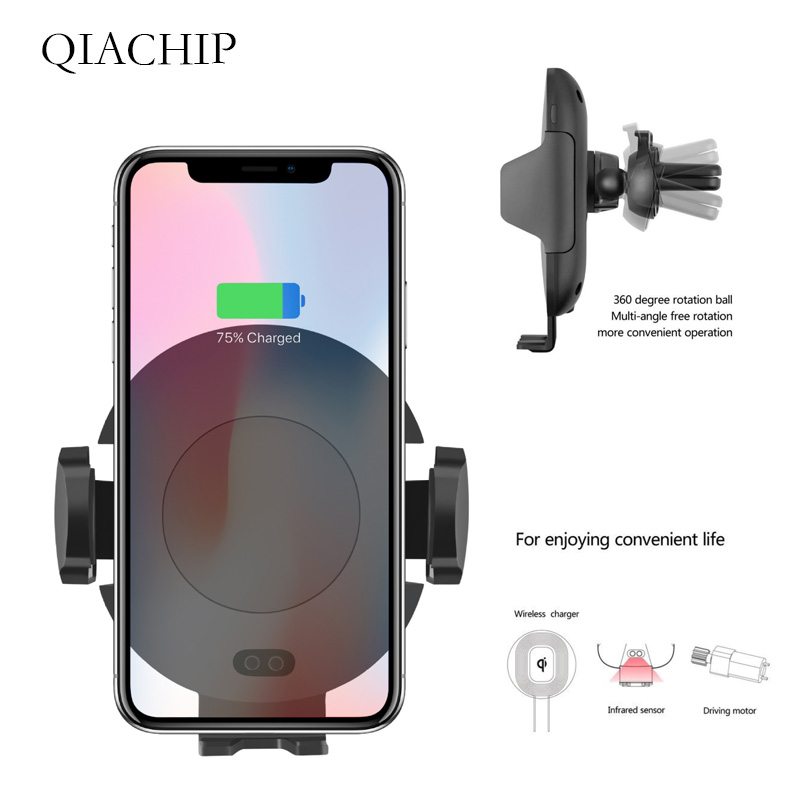 C11 Car Wireless Charger Auto Infrared Sensor For iPhone X XS For Samsung Note 9 Automatic