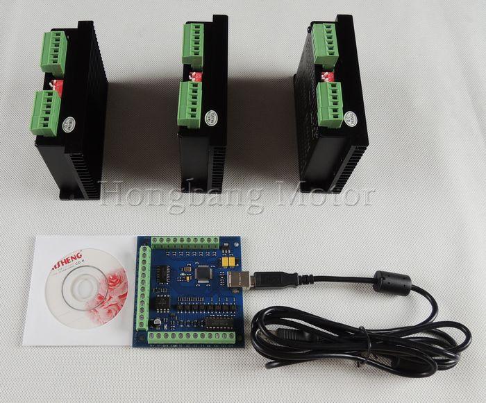 CNC mach3 usb 3 Axis Kit, 3pcs TB6600 1 Axis Driver controller + one mach3 4 Axis USB CNC Stepper Motor Controller card 100KHz cnc mach3 usb 3 axis kit 3pcs tb6600 1 axis stepper motor driver mach3 4 axis usb cnc stepper motor controller card 100khz