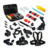 Acessórios da câmera ação portátil kits para gopro hero 5 4 sessão sj4000 sjcam sj5000 m10 m20 xiaomi yi 4 k eken soocoo h9 conjunto