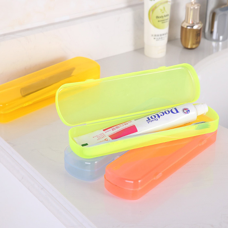 High Quality Useful Travel Portable Toothbrush Toothpaste Storage Box Cover Protect Case Travel Accessories