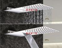 Mejor Cabezal de ducha de cascada de dos funciones de lujo ultrafino cabezal de ducha de lluvia grande montado en la pared cascada ducha de lluvia