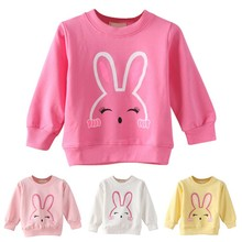 hot deal buy girl tops spring autumn baby rabbit cotton long sleeve t-shirt children clothes kids long sleeve tops tees blouse for girls