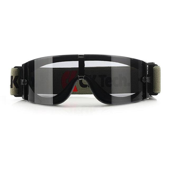 Black Elastic Shrinking Band High Impact Safety Glasses Riding Wind And Dust Goggles Tactical Glasses