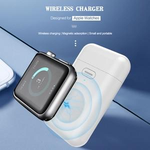 Image 5 - 1000mAh kablosuz şarj edici güç bankası Apple için İzle 1 2 3 4 mini güç bankası iWatch 1 2 3 4 harici pil şarj çantası USB