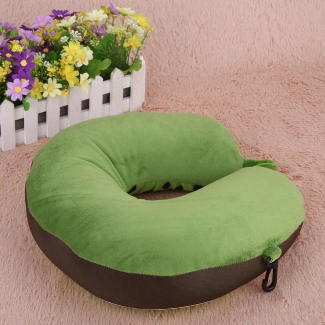 Fruit U Shaped Pillow Travel Watermelon Lemon Kiwi Orange Pillows Cushion Nanoparticles Neck Pillow Car Travel Pillow