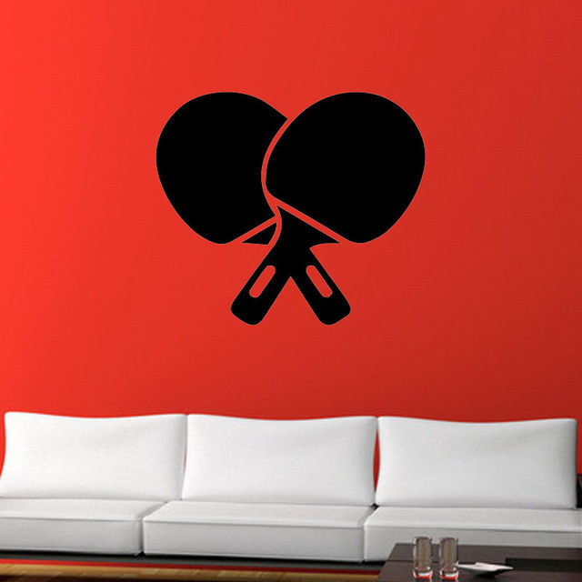 Table Tennis Ping Pong Vinyl Decal Wall Stickers For Gym Removable Home Decor Living Room