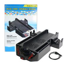 Game accessories with Dual Fan Cooler Console Stand, Controller Charging Docking Station Console Holder for Xbox One Black