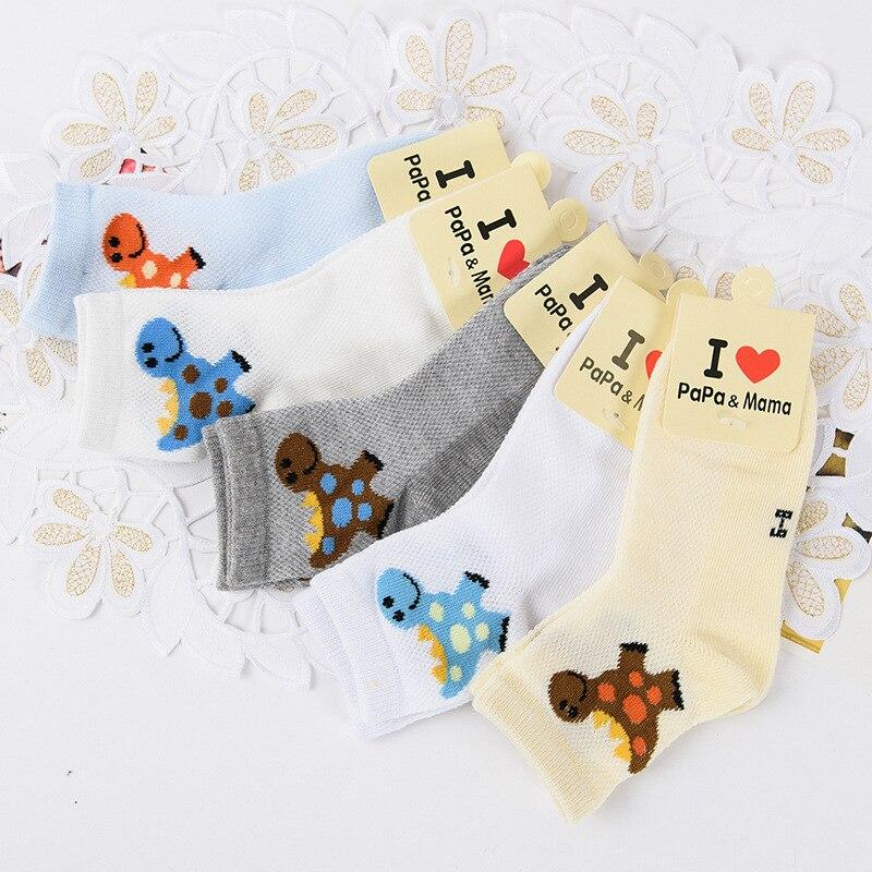 5 Paare/los 2016 Neue Frühjahr/sommer/herbst Atmungs Cartoon Kinder Socken 2-10 Jungen Socken Kinder Socken