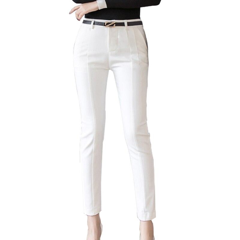 Ankle Length Capris Female Leggings Pantalon High Waist Elastic Casual Woman Pants