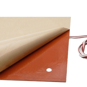 Image 4 - 750w 220v 31*31 cm 3D מדפסת חלקים ואבזרים סיליקון מחומם מיטה כתום צבע חימום Pad עבור CR 10 3D מדפסת מיטת חורים
