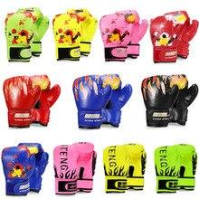 Kid 1 Pair Leather Boxing Gym Golves Fitness Training Gloves Sanda Sandbag Protector Equipment