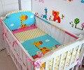 ¡ Promoción! 5 unids baby bedding set cama personalizar cuna bedding kit bebé ropa de cama, incluya: (tope + hoja)