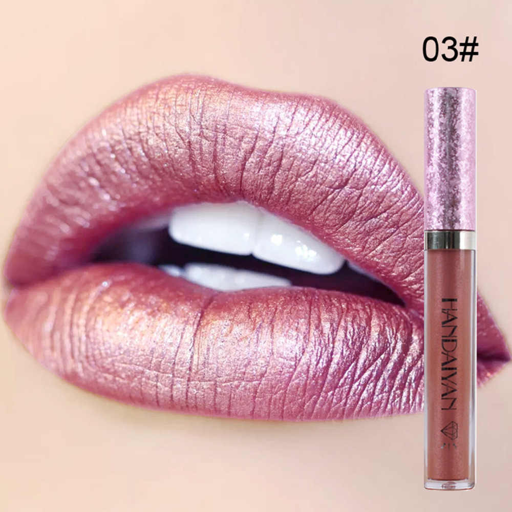 Diamond Pearly Lustre Glam Shiny Lip Gloss Moisturizing Lip Glosses Natural Ingredients Long Lasting non-stick long day wear 4