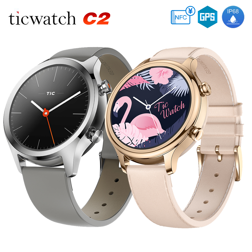 Original Global Ticwatch C2 Android wear NFC Google Pay GPS Smart Watch IP68 Waterproof AMOLED smartwatchs