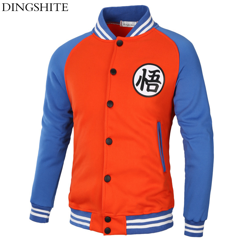 Men's Clothing Painstaking Dingshite New Fashion Personality Spring And Autumn Jacket Dragon Ball Print Jacket
