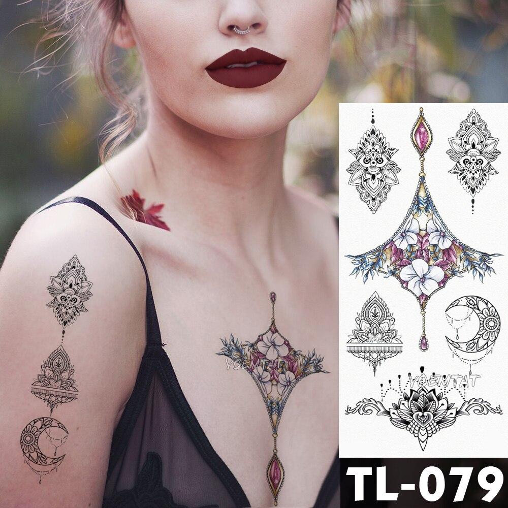 1 Piece Temporary Tattoo Sticker Water Transfer Wing: Water Transfer Beautiful Flowers Temporary Tattoo Sticker