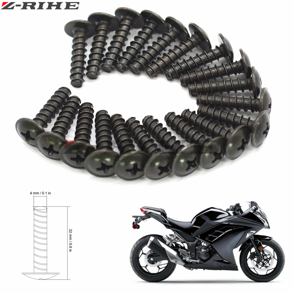 20x 4MM Universal Motorcycle Fairing Bolt Screw Washers Fastener Fixation for YAMAHA FZ6 FZ1 FAZER FZ8 T MAX 500 530 TMAX 530 mt universal windshield cnc motorcycle fairing body work fasten bolts screws for yamaha fz1 fazer fz6r fz8 xj6 fz6 mt 09 fz 09