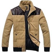 Куртка хлопок — мягкий короткая, кожа пэчворк парка мужская вязаный вязание подметание дизайн пальто M-3XL / мф1
